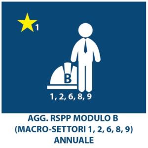 AGGIORNAMENTO RSPP macrosettori (1,2,6,8,9) – ANNUALE