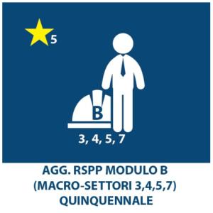 AGGIORNAMENTO RSPP macrosettori (3,4,5,7) – QUINQUENNALE